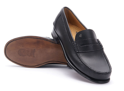 Greve Mocassin Kansas Black Calf