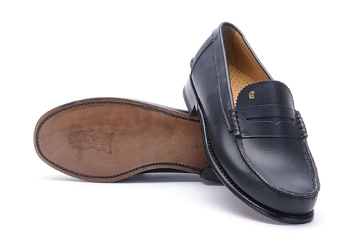 Greve Mocassin Kansas Blue Calf Largeur K